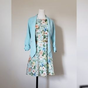 Forever 21 Floral Teal dress|Great for a Wedding